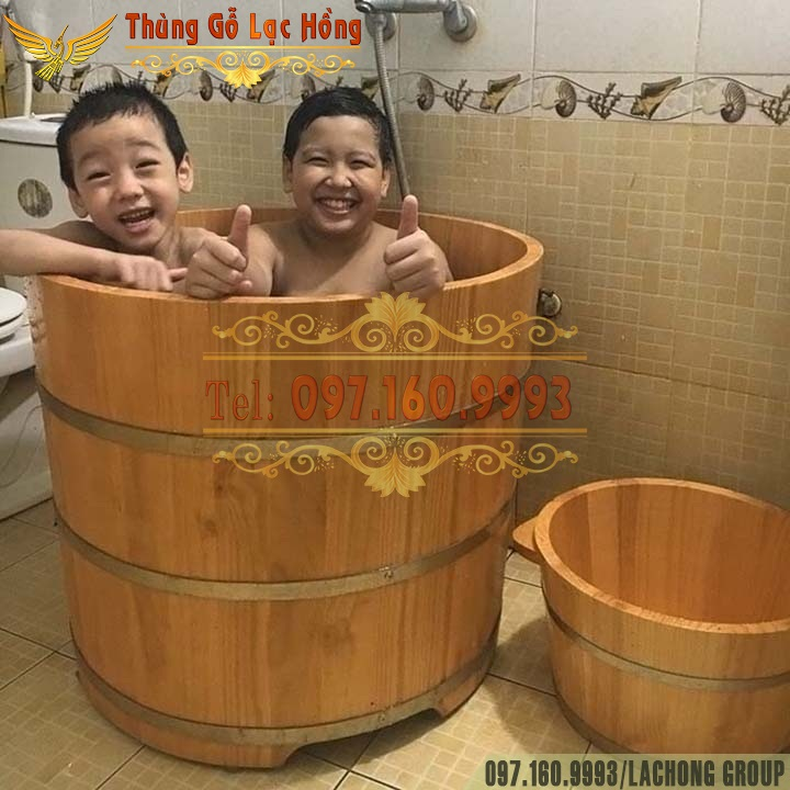 bồn tắm tròn dáng đứng