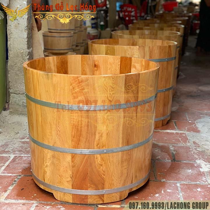 bồn gỗ ngâm thuốc