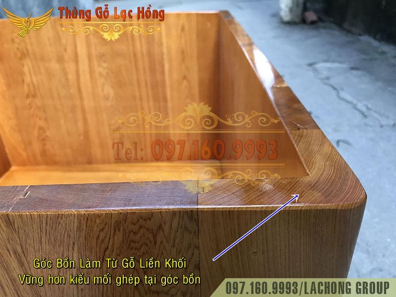bồn tắm gỗ góc