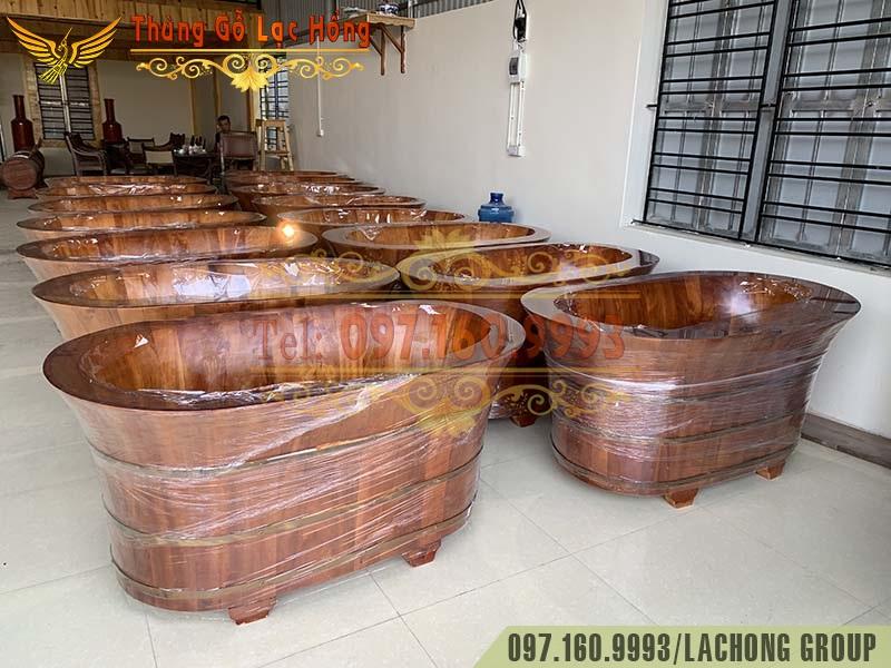 bồn gỗ ngâm thảo dược