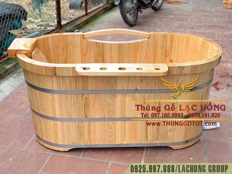 thùng tắm gỗ dáng nằm