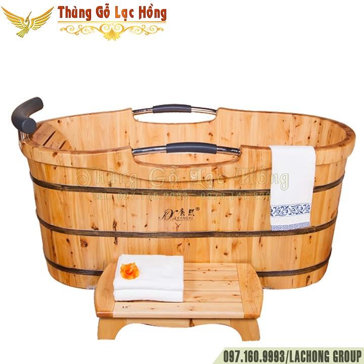 bồn tắm gỗ bách hương