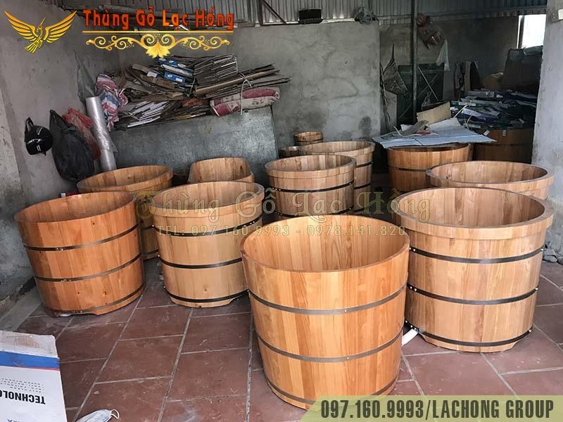 xưởng sản xuất bồn tắm gỗ