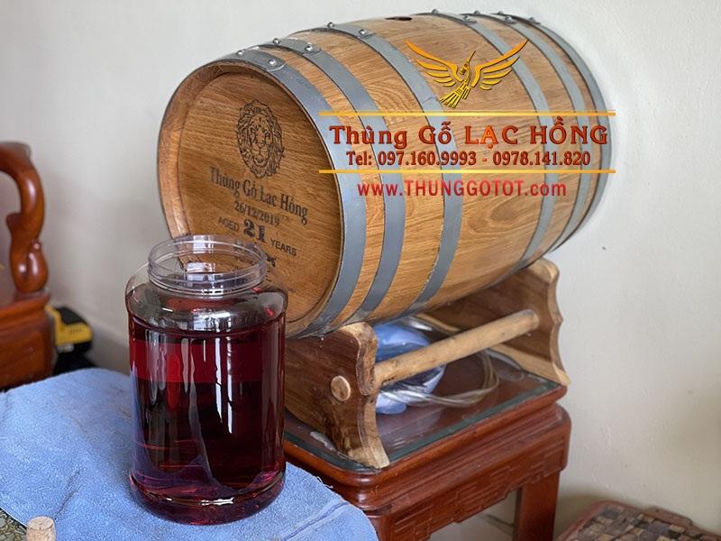 rượu ngâm thùng gỗ sồi