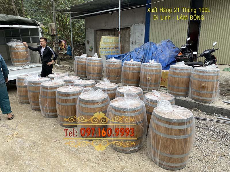 thùng gỗ sồi lâm đồng