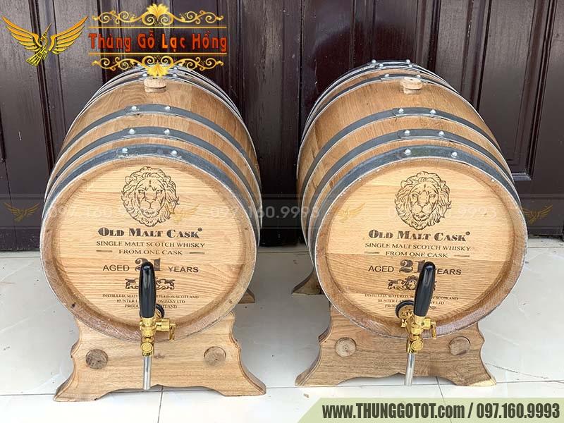 bình rượu gỗ Sồi
