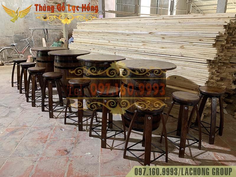 bán thùng gỗ cũ