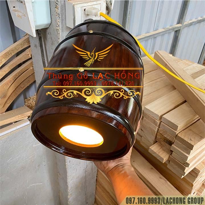 hộp đèn thả hình bom rượu