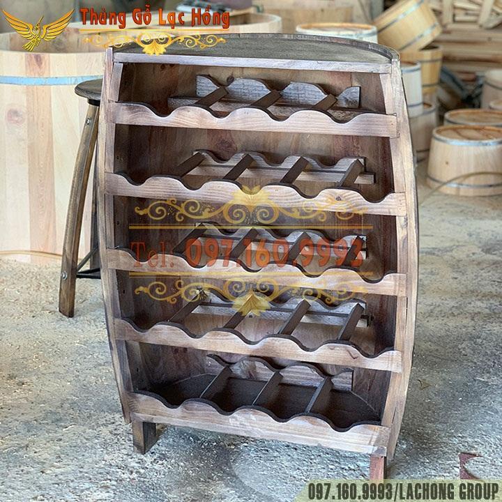 thùng gỗ đựng chai rượu