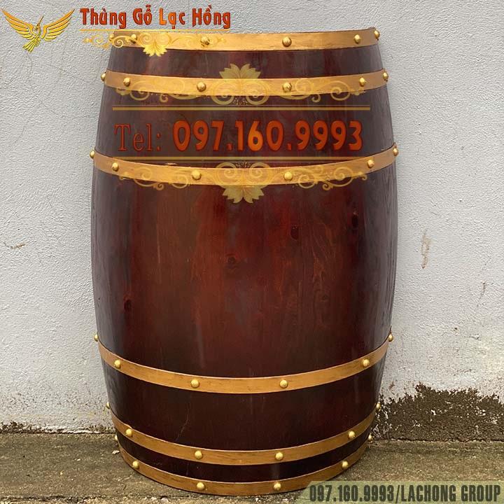 thùng rượu gỗ bổ nửa