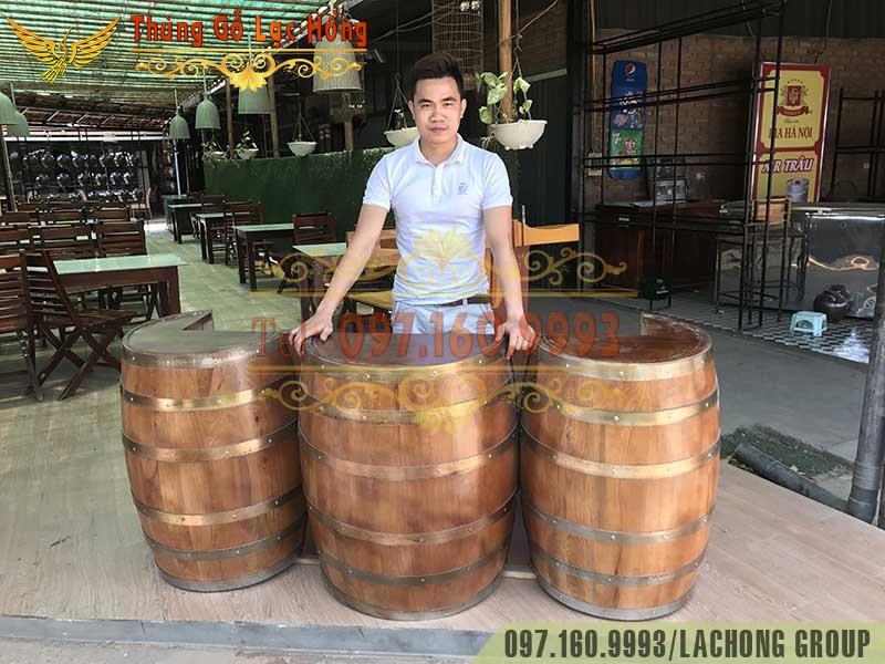 bán thùng rượu gỗ