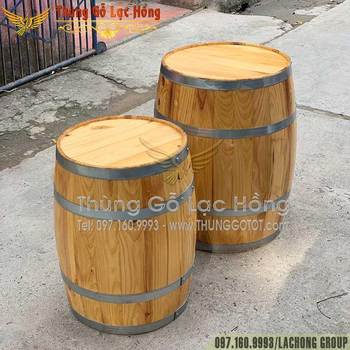 bình rượu gỗ cũ