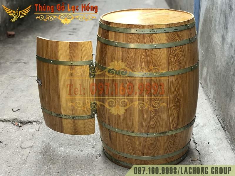 bán thùng gỗ trưng bày