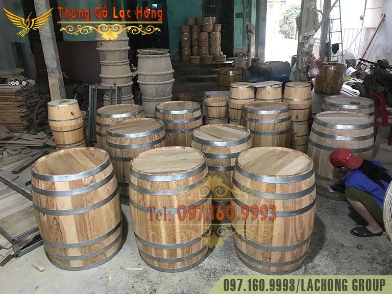 thùng gỗ Sồi trưng bày rượu